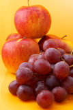 Apples and grape Royalty Free Stock Image