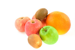 Apples, grapefruit, kiwi-fruits Stock Photography
