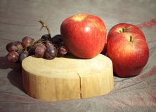 Apples and grapes Royalty Free Stock Image