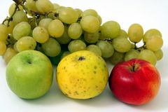 Apples and Grapes Stock Photo