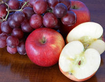 Apples and grapes Royalty Free Stock Photo