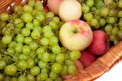 Apples and grapes Stock Photography