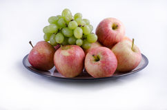Apples and Grapes Stock Image