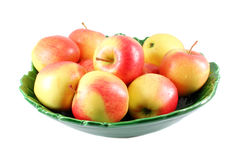 Apples in green vase Royalty Free Stock Images