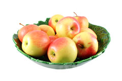 Apples in green vase Stock Photography