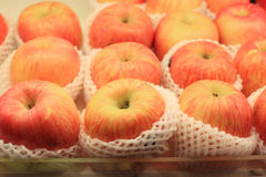 Apples at grocery store Stock Image