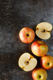 Apples on a grunge background Stock Image
