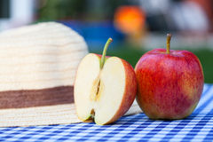 Apples and hat Royalty Free Stock Image