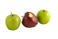 Apples with heart Royalty Free Stock Photo