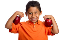 Apples Help You Grow Stronger Royalty Free Stock Photography