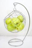 Apples holder bowl basket Royalty Free Stock Photo