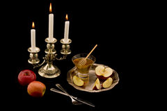 Apples and honey. The Jewish New Year's still-life with apples and honey Stock Images