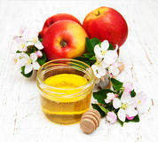 Apples with honey Royalty Free Stock Photo
