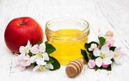 Apples with honey Stock Photo