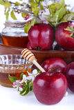 Apples and honey Royalty Free Stock Image