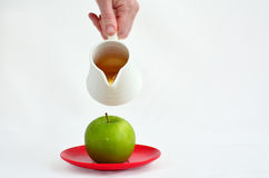 Apples and Honey - Rosh Hashanah Jewish holiday Stock Image