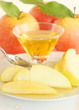 Apples and honey Royalty Free Stock Images