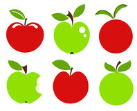 Apples icons Stock Image