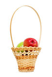 Apples In A Basket Stock Photos