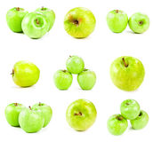 Apples isolated on white royalty free stock photography