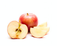 Apples isolated on white Royalty Free Stock Photos