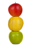 Apples isolated on white background Royalty Free Stock Photo