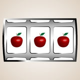 Apples jackpot Stock Image