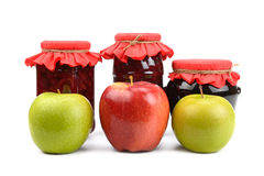 Apples and  jam Royalty Free Stock Photography