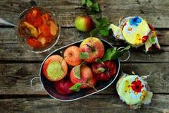Apples jam Stock Image