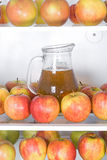 Apples with jug Stock Photo