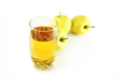 Apples and juice Stock Image