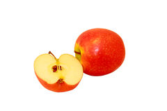 Apples. Juicy, ripe, red apples and useful fruit Royalty Free Stock Photo