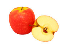 Apples. Juicy, ripe, red apples and useful fruit Stock Image
