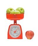 apples kitchen scale weighting Στοκ φωτογραφίες με δικαίωμα ελεύθερης χρήσης