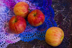 Apples on lace_5 Royalty Free Stock Image