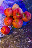 Apples on lace_1 Royalty Free Stock Images