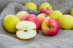 Apples and lemon Royalty Free Stock Images