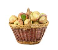 Apples lie in a basket Royalty Free Stock Photo