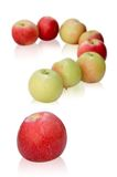 Apples like a question mark Royalty Free Stock Photos
