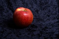 apples look beautiful and scary. royalty free stock image