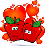 Apples in love Royalty Free Stock Photography