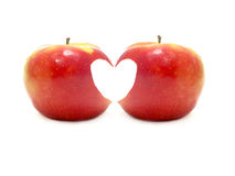 Apples of love Stock Images