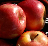 Apples Lower Cholesterol. One apple a day keeps the doctor away but two apples a day will keep your cholesterol levels at bay Stock Photography