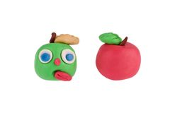 Apples made of plasticine Stock Photography