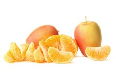 Apples and mandarin Royalty Free Stock Image