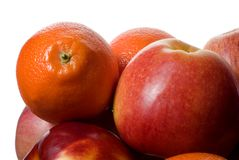 Apples and mandarins Royalty Free Stock Images