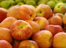 Apples in market Royalty Free Stock Image