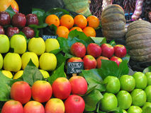 Apples at the market. Assorted apples at the market stall Royalty Free Stock Photos