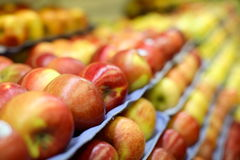 Apples at a market Royalty Free Stock Photo