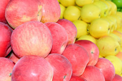 Apples on the market Stock Photos